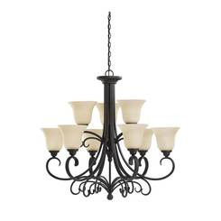 Sea Gull Lighting 31123EN3-820 Nine Light Chandelier