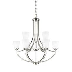 Sea Gull Lighting 3124509-962 Nine Light Chandelier