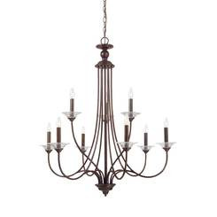 Sea Gull Lighting 31319-710 Lemont Nine Light Chandelier