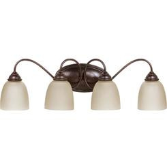 Sea Gull Lighting 44319-710-FBA Burnt Sienna Lemont 4 Light Bathroom Vanity Light