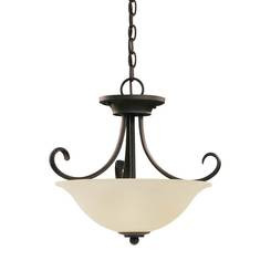 Sea Gull Lighting 51120EN3-820 Two Light Semi-Flush Convertible Pendant