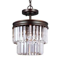 Sea Gull Lighting 7714002-710 Two Light Semi-Flush Convertible Pendant