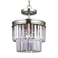Sea Gull Lighting 7714002-965 Two Light Semi-Flush Convertible Pendant