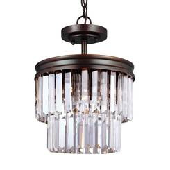 Sea Gull Lighting 7714002EN3-710 Two Light Semi-Flush Convertible Pendant