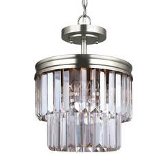 Sea Gull Lighting 7714002EN3-965 Two Light Semi-Flush Convertible Pendant