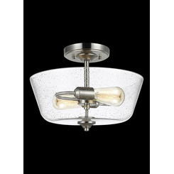 Sea Gull Lighting 7714502-962 Two Light Ceiling Semi-Flush Mount