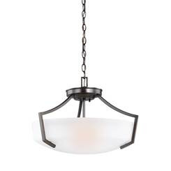 Sea Gull Lighting 7724503-710 Three Light Ceiling Convertible Pendant