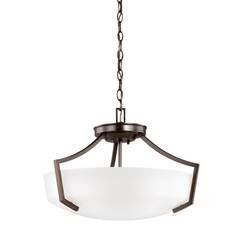 Sea Gull Lighting 7724503EN3-710 Three Light Ceiling Convertible Pendant