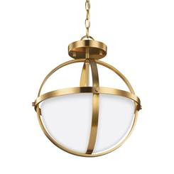 Sea Gull Lighting 7724602-848 Two Light Semi-Flush Convertible Pendant