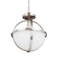 Sea Gull Lighting 7724602-962 Two Light Semi-Flush Convertible Pendant
