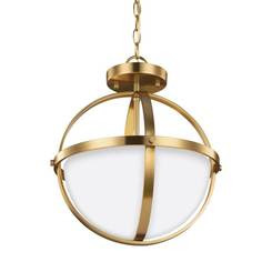 Sea Gull Lighting 7724602EN3-848 Two Light Semi-Flush Convertible Pendant