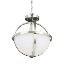 Sea Gull Lighting 7724602EN3-962 Two Light Semi-Flush Convertible Pendant