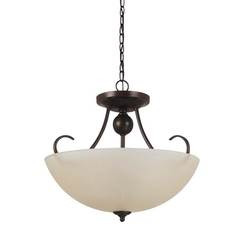 Sea Gull Lighting 77316-710 Three Light Semi-Flush Convertible Pendant