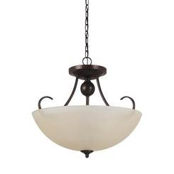 Sea Gull Lighting 77316EN3-710 Three Light Semi-Flush Convertible Pendant