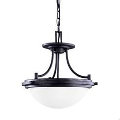 Sea Gull Lighting 77660-839 Two Light Semi-Flush Convertible Pendant