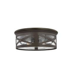 Sea Gull Lighting 7821402-71 Lakeview Two Light Outdoor Ceiling Flush Mount