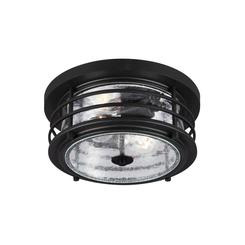 Sea Gull Lighting 7824402-12 Two Light Outdoor Ceiling Flush Mount