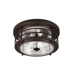 Sea Gull Lighting 7824402-71 Two Light Outdoor Ceiling Flush Mount