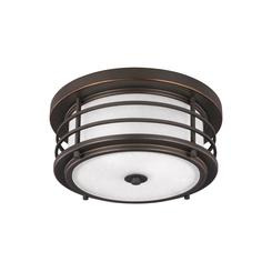 Sea Gull Lighting 7824452-71 Two Light Outdoor Ceiling Flush Mount