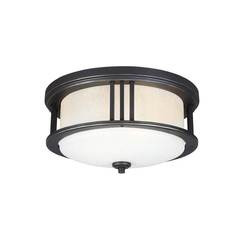 Sea Gull Lighting 7847902-71 Two Light Outdoor Ceiling Flush Mount