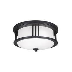 Sea Gull Lighting 7847902EN3-12 Two Light Outdoor Ceiling Flush Mount