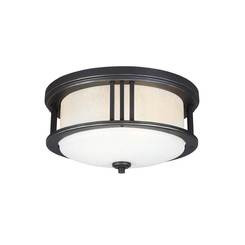 Sea Gull Lighting 7847902EN3-71 Two Light Outdoor Ceiling Flush Mount