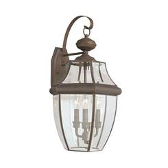 Sea Gull Lighting 8040EN-71 Three Light Outdoor Wall Lantern