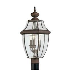 Sea Gull Lighting 8239-71 Three Light Outdoor Post Lantern