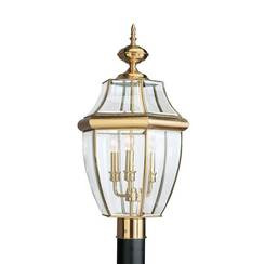Sea Gull Lighting 8239EN-02 Three Light Outdoor Post Lantern
