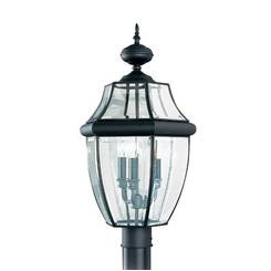 Sea Gull Lighting 8239EN-12 Three Light Outdoor Post Lantern