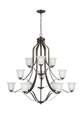 Sea Gull Lighting 3139012-782 Emmons Heirloom Bronze 12 Light Chandelier