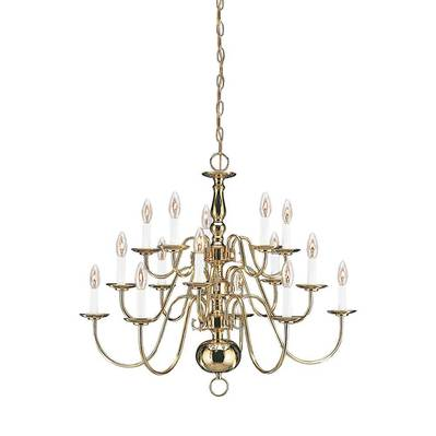 Sea Gull Lighting 3414-02 Fifteen Light Chandelier
