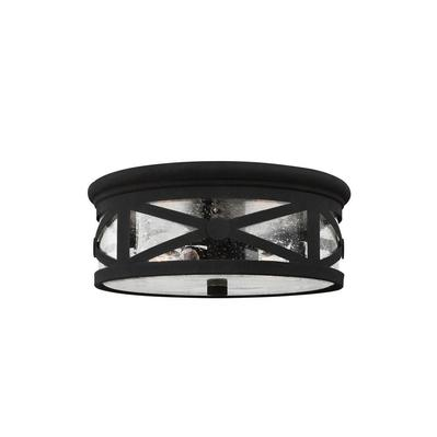 Sea Gull Lighting 7821402-12 Lakeview Two Light Outdoor Ceiling Flush Mount